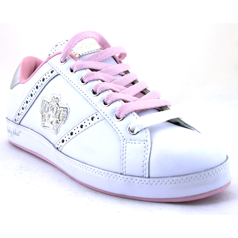 Life Instinct White Pink Silver Trainer from Baby Phat