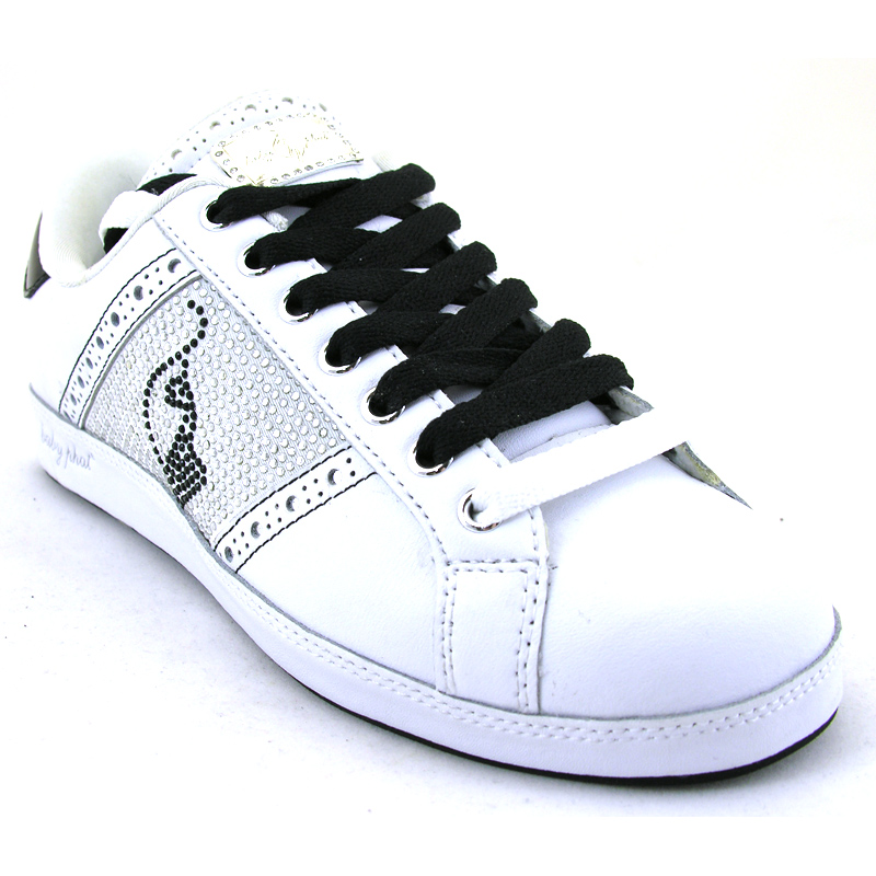 Life Desire White Black Silver Trainer from Baby Phat