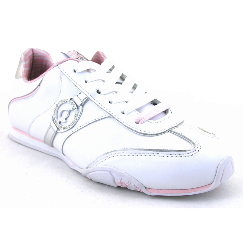 Endo Lita White Pink Silver Trainer from Baby Phat